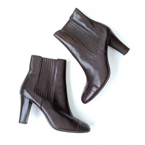 Geox Respira high heel brown ankle boots size 40